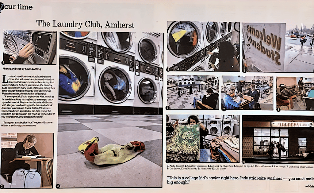 Daily Hampshire Gazette article on The Laundry Club